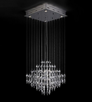 European modern line curtain crystal chandeliers 3D Model Download ...