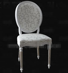 European-style white palace-style wooden chair