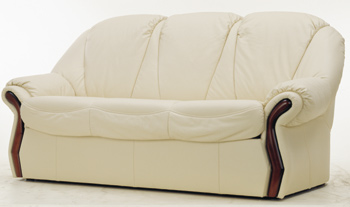 European-style white leather sofa 3D Model