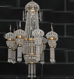 European crystal bead curtain chandelier