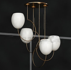 White egg-shaped chandeliers