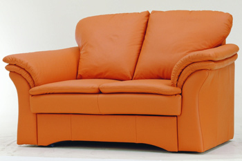Modern orange double seats sofa