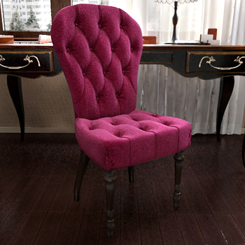 Classic Velvet Fabric Purple Armchair