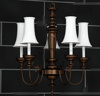 European style retro white chandelier