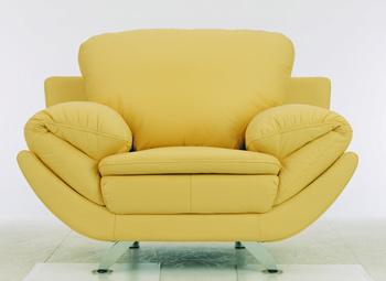 European Modern Light Color Leather Sofa