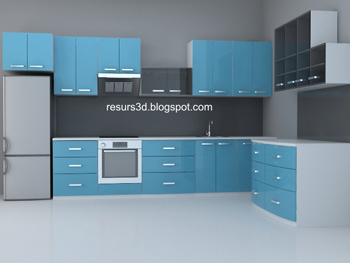 Modern blue household Cabinets