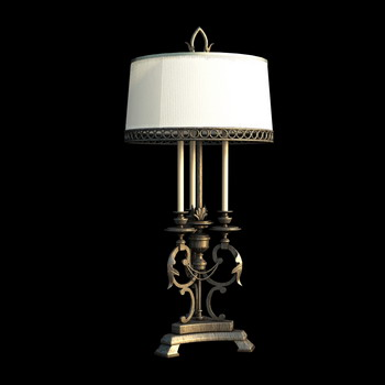 European style Iron base table lamp