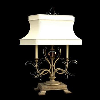 European classic white shade lamp