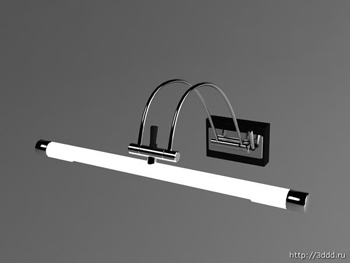 Modern white wall lamp 3D model