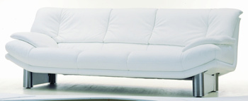 Modern White three seats fabric sofa