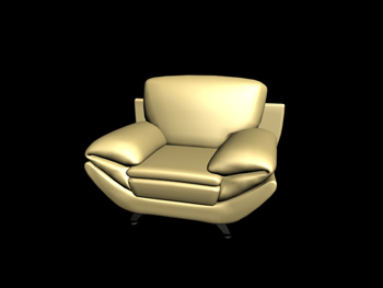 European single sofa 3D Model
