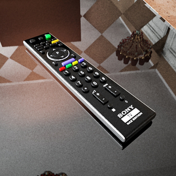 3D model of Sony TV remote control