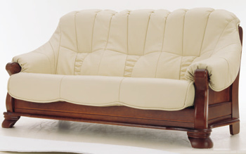 European-style leather sofa -3