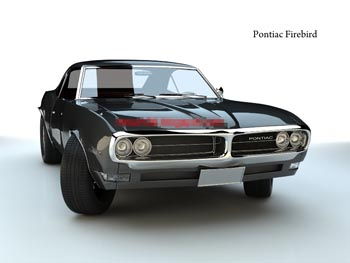 Black Pontiac Model Classic Cars D Model DownloadFree D Models - Old cars model