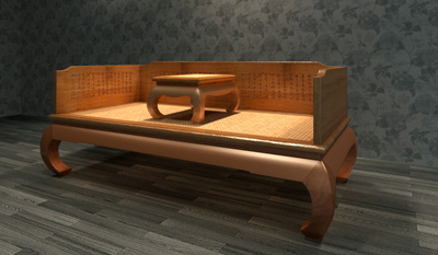 Chinese Furniture Ocean Bed