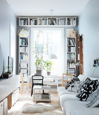 White simple fashion living room