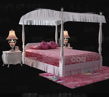 Pink Hello Kitty theme princess bed