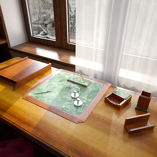 3D model of a scene study window