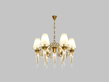 3D model of the classic European-style chandeliers