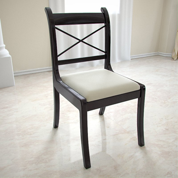 European black wood dining chairs