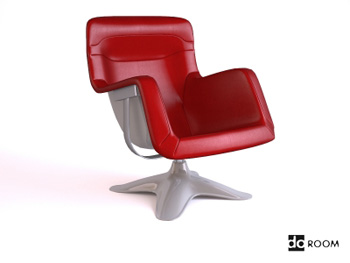 Stylish red armrests swivel