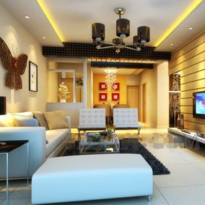 Golden vitality theme living room