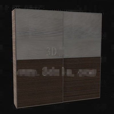 Gray-brown double color portfolio wardrobe