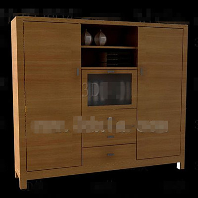 Glass and wooden doors combinations cabinet