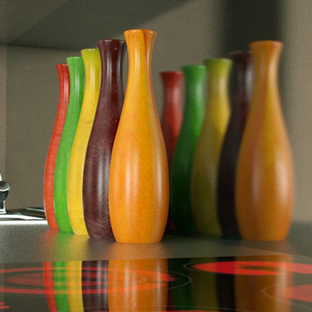 fashion multicolor decorative vase