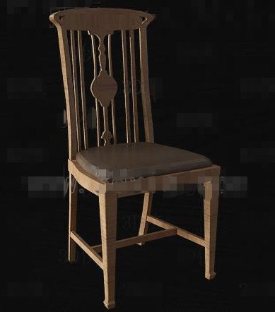 Chinese brown wood wooden chair
