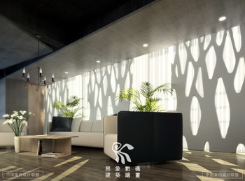 Modern style office reception room scene