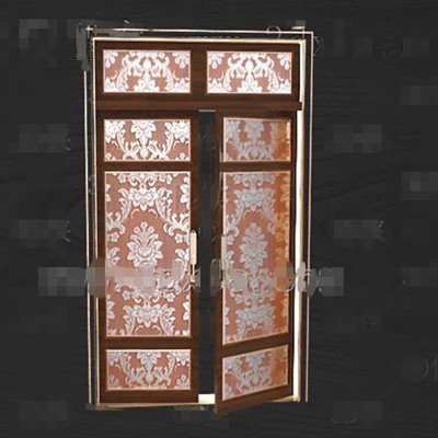 Gold-rimmed gorgeous pattern doors