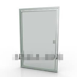silver-gray shower door