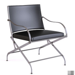 Black iron legs folding chair model