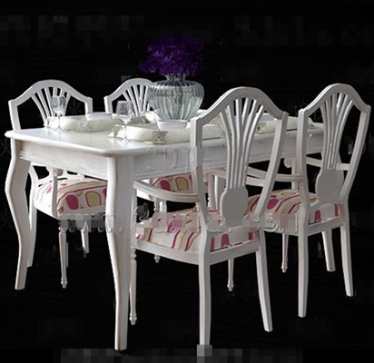 White and Pink cushions dining table