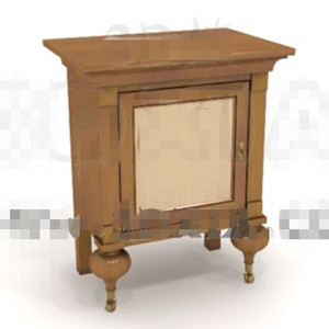 Unique square door bedside cabinet