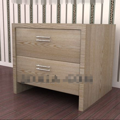 Dark wooden drawers bedside cabinet