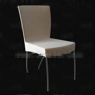 Light colored metal legs chair