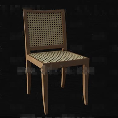 Rattan Knitted Hollowing Chair 3d Model Download Free 3d
