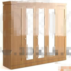 Modern wood color wardrobe