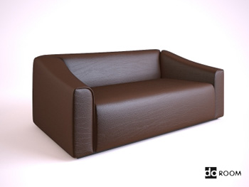 Dark brown cortical many people sofa