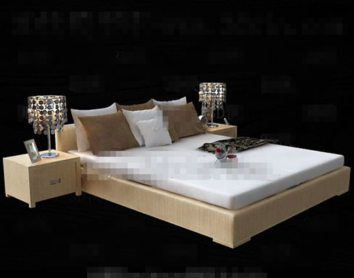 bed 3d model download free 3d model download free 3d. Black Bedroom Furniture Sets. Home Design Ideas