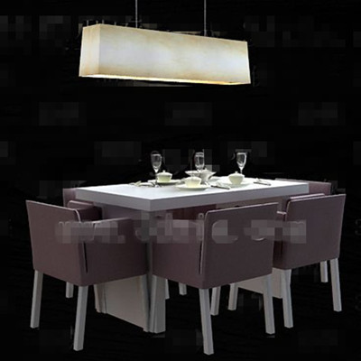 Light purple cozy dining table combination