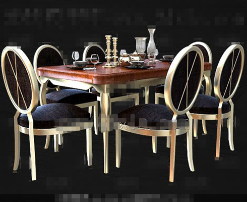 Comfortable modern wooden dining table