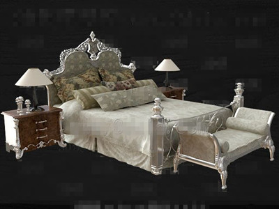 European style modern double bed