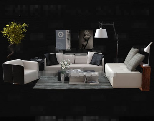 Fashion simple white sofa combination