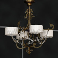 White metal frame pendant lamp