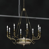 European style white candles chandelier
