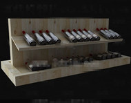Wood primary color simple wine cabinet