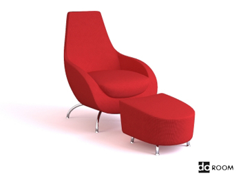 Red comfortable multifunctional chair